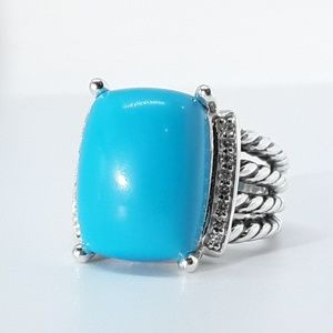 DAVID YURMAN LARGE TURQUOISE WHEATON RING